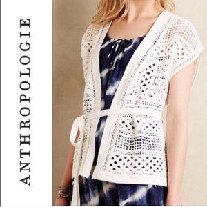 Knitted & Knotted | NWT White Crocheted Vest